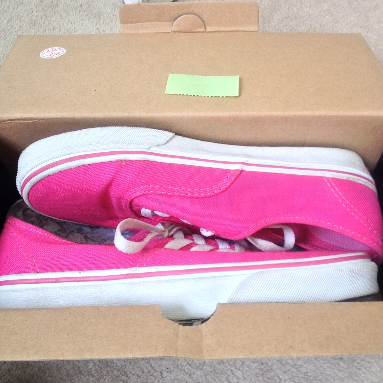 e07b8871087e Pink and white Vans. Hardly worn