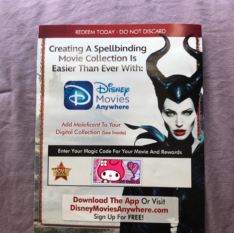 Maleficent Digital Movie Code Payment Thu Paypal Depop