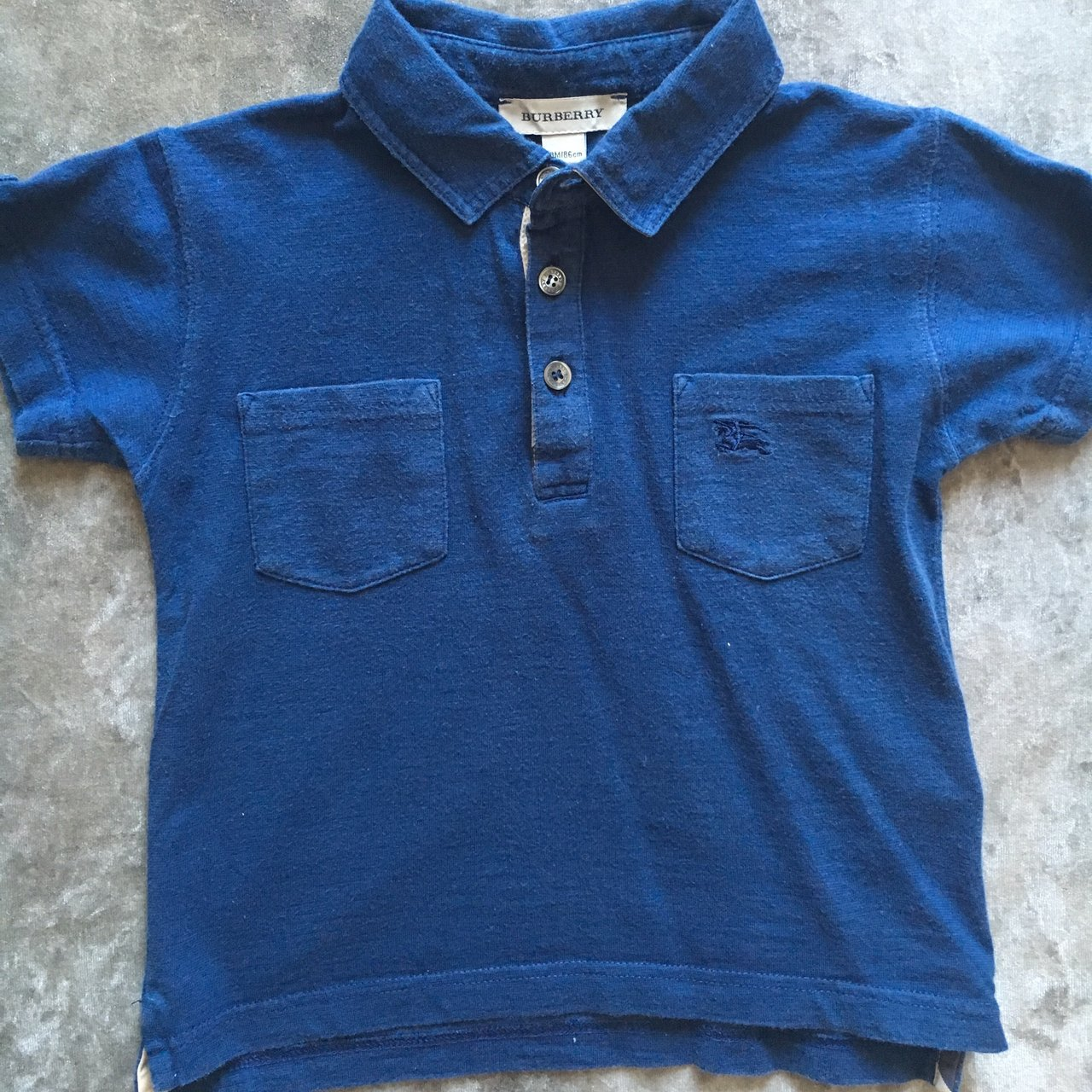98fab412 AUTHENTIC baby boy toddler Burberry polo shirt. Very good at - Depop