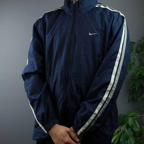 1834247a5 @cloutcloset. 6 months ago. Littlehampton, United Kingdom. Vintage Nike  Jacket in Navy colourway and size Medium/Small. Features embroidered logo  ...