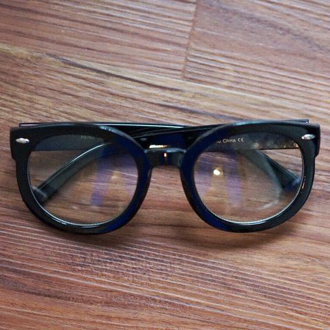 d4fd765d70a LARGE RIMMED GLASSES 👓 ✨ Super fun and funky! with clear - Depop
