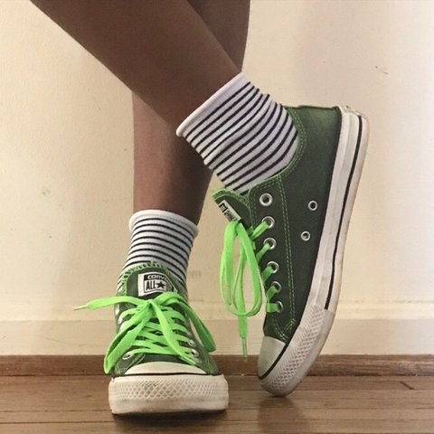 e66a2fbc9e2ef9  gnariley. 10 days ago. United States. chuck taylor low top converse neon  green ...