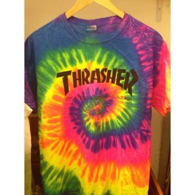 Brand new thrasher spiral tie dye in size medium or large - Depop 3ccb5e561435