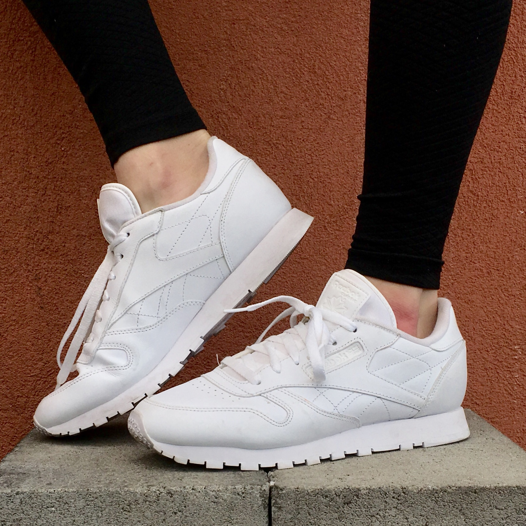 discount sale unique design wholesale price Reebok Classic Leather sneakers. All White Leather.... - Depop