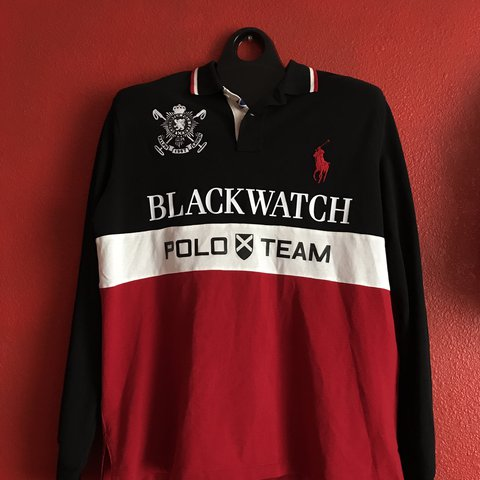 c6a63e17 @x_c_l. 2 years ago. Porterville, United States ‼️RARE‼ POLO RALPH LAUREN BLACK  WATCH POLO TEAM LONG SLEEVE ...