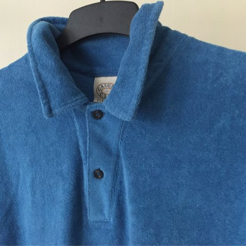 bcf92661c French Terry Polo Button Up T Shirt. Size M   L. Missed out - Depop