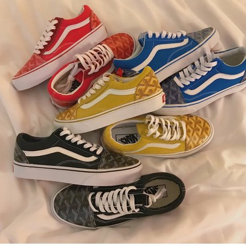 5dbc78caec2 Goyard vans available in Red Black yellow and Blue ! Check - Depop
