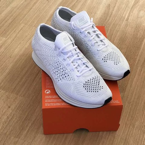 f4d678934f98  maxhughes8. 9 months ago. United Kingdom. Nike Flyknit Racer Trainers In  White 10 10 condition brand new