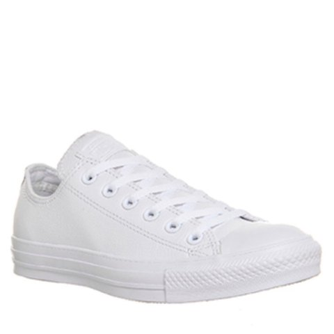 Boys' Shoes White Leather Converse Size 4