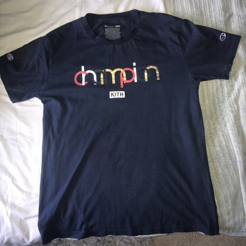 4cc0a455 @dconnolly30. 3 months ago. Liverpool, United Kingdom. Kith x Champion navy tee  size ...