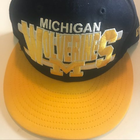 24c8d4cf Michigan wolverines michell and ness snapback cap *No me is - Depop
