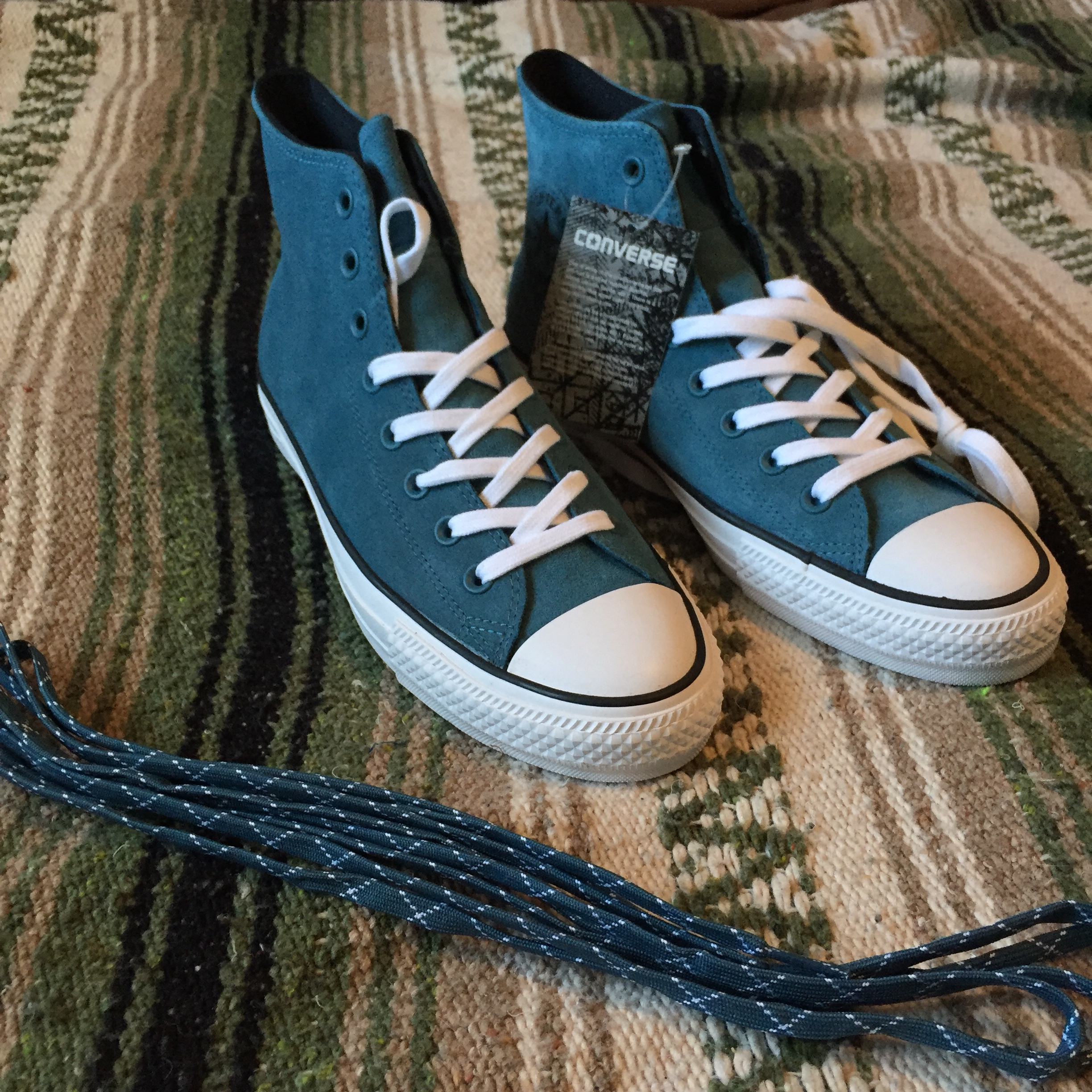 56e099b04363 Converse Cons CTAS PRO Hi Awesome Teal color to these skate - Depop
