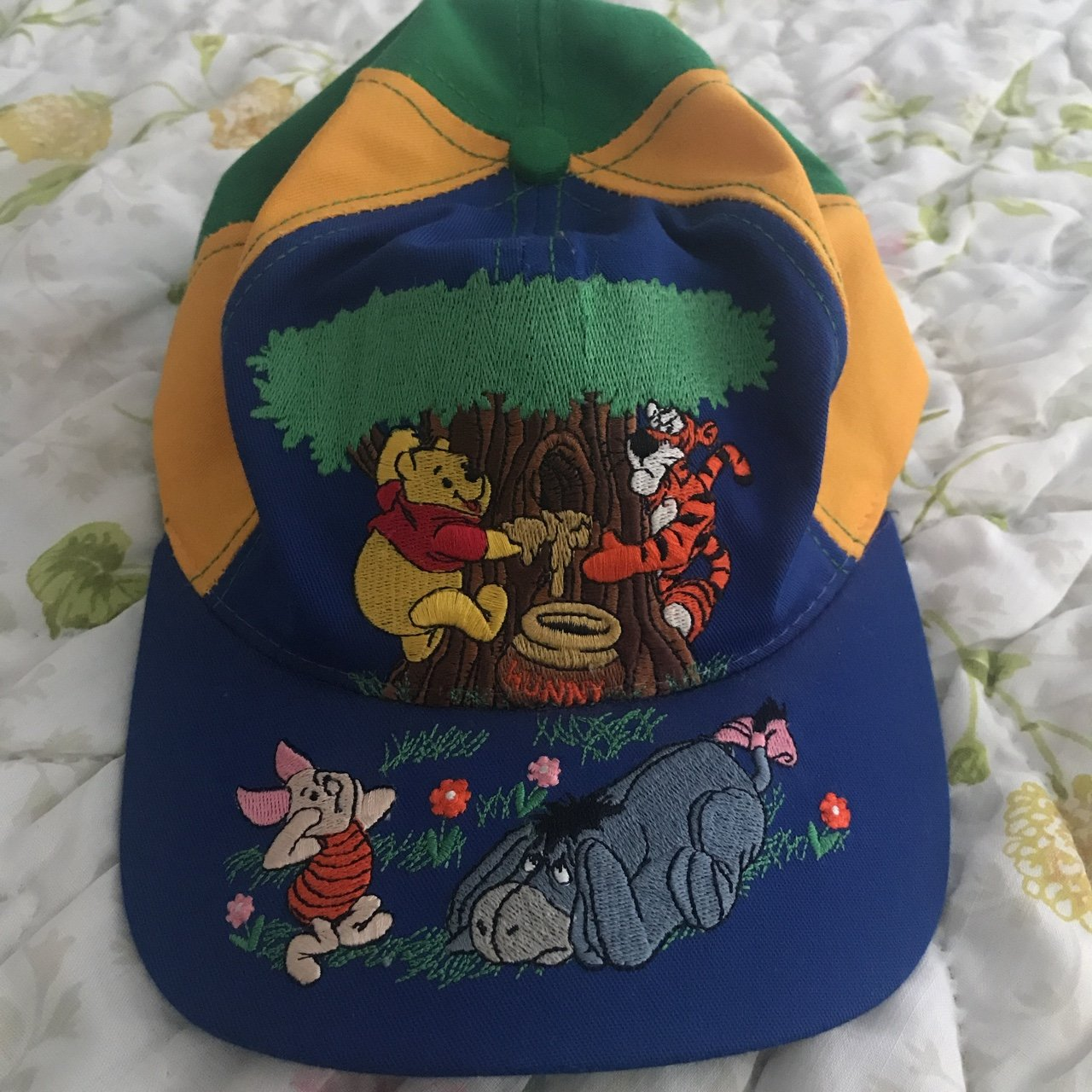 194869b8a67 Winnie the Pooh colorful baseball cap from goofys hat size - Depop