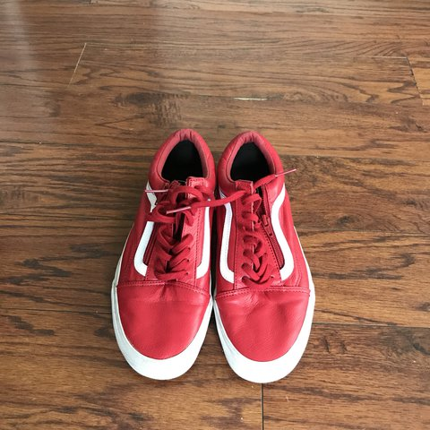 Vans Leather Sk8 Lows ( with Zipper ) Size 9 Depop All - Depop 1e1f08490