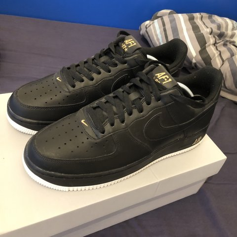 4fd0b8d9f6975 @joe_279. 2 months ago. Derby, United Kingdom. Nike Air Force 1 07 Black  Size 8 UK Excellent condition only worn once ...