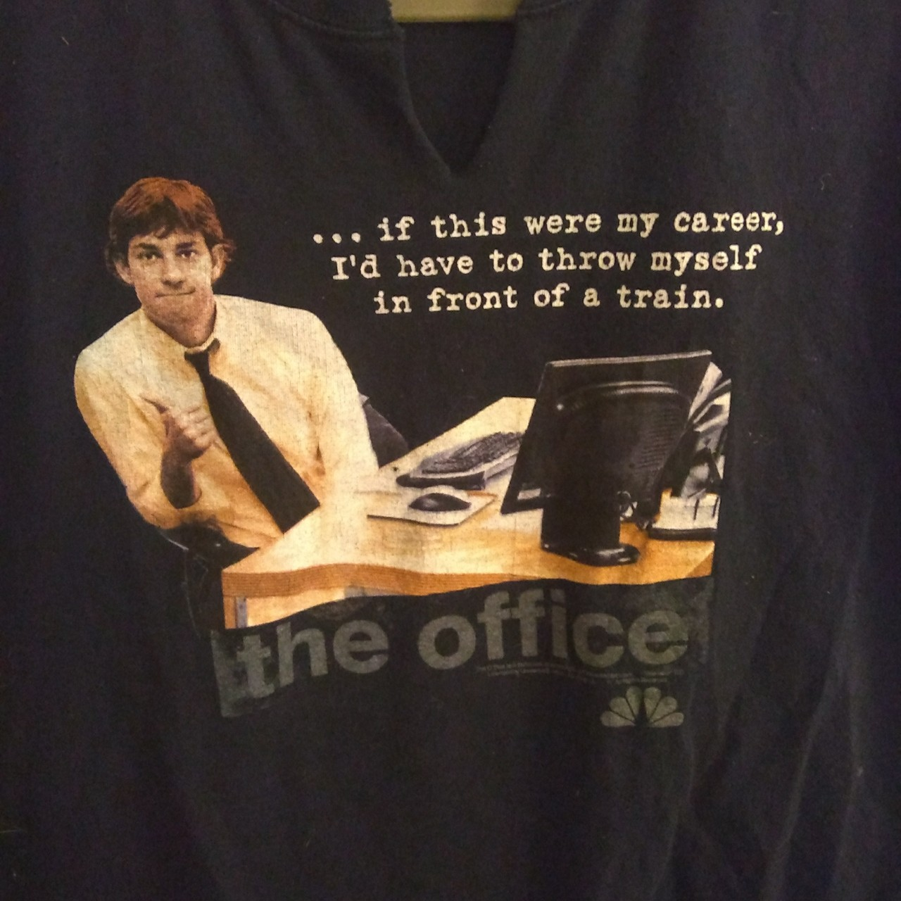 THE OFFICE official merch. Jim Halpert quote faded... - Depop