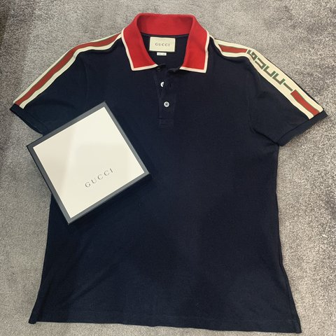 a7784ecbfe8 Gucci polo -Size large 🎒 -10 10 condition comes with the - Depop