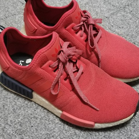 Adidas Women s NMD R1 in Vivid Red Women s SIZE 8 Worn a few - Depop f48d03196b