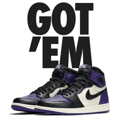 "b0ed2104cad7 BRAND NEW Jordan 1 og retro ""high court purple"" size UK 10 - Depop"
