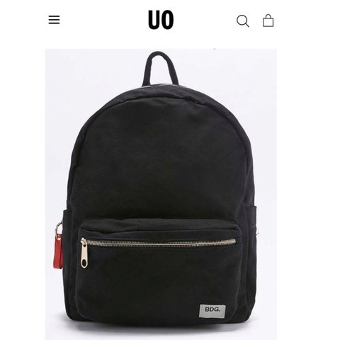 ad8a3d52321d Black BDG canvas backpack from Urban Outfitters. Original to - Depop