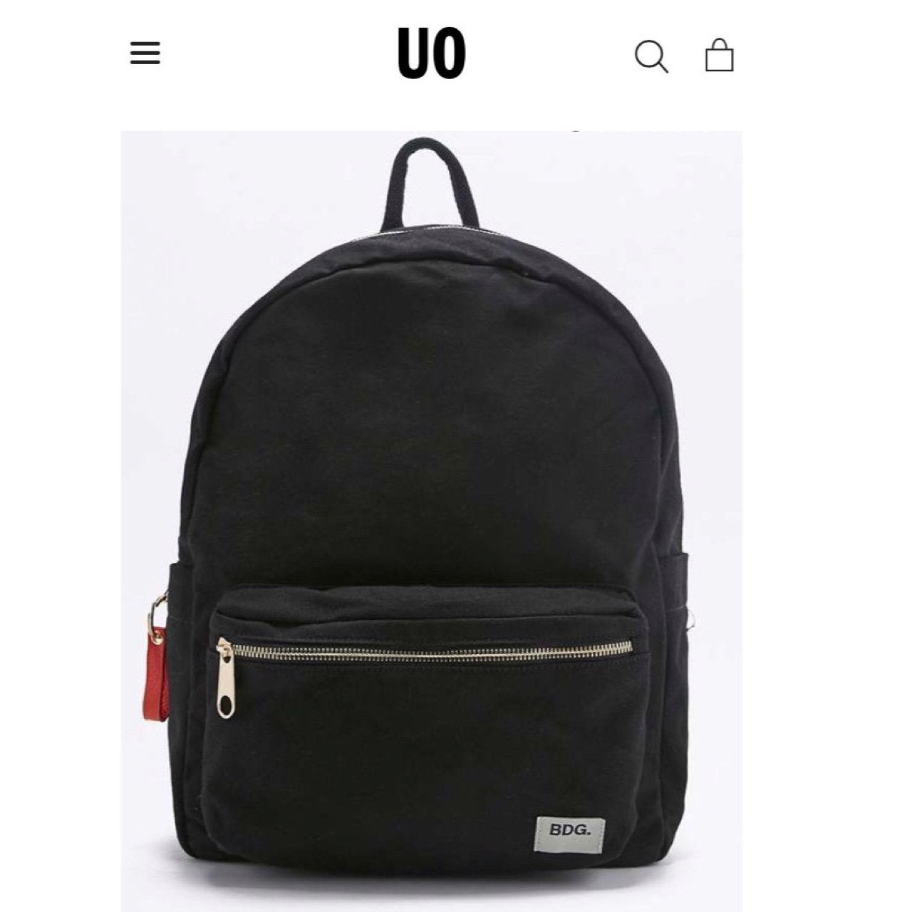 548b55df3058 Black BDG canvas backpack from Urban Outfitters. Original to - Depop