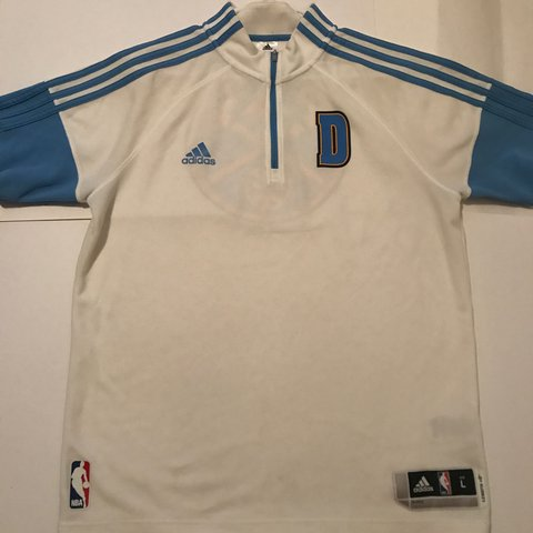 162ed9033 Denver Nuggets Adidas NBA warm up jersey great condition - Depop