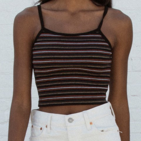 4b32ca307c4 @feistyferret. last year. United States. Brandy Melville Belle tank. Ribbed  cotton cropped tank top ...