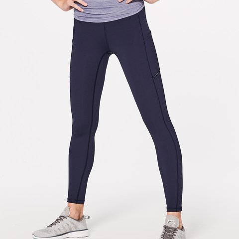 b41ffe9fac Lululemon Navy Speed Up Tight FullOn Luxtreme Brushed WITH - Depop
