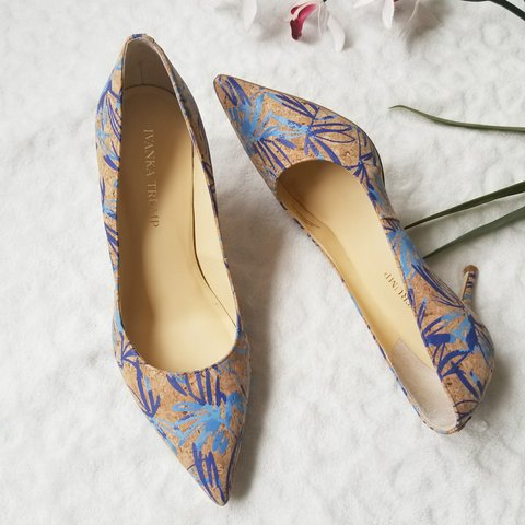 e9d73e91ac @abbymiye. last year. White Bear Lake, Ramsey County, United States. Nwot  Ivanka Trump Boni 5 Pointed Toe Pumps Color: Blue ...