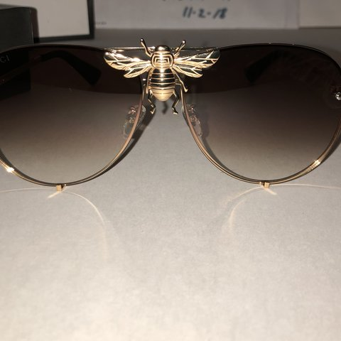 697d8efc34  echelon18. 2 days ago. United States. Gucci exclusive authentic bee  sunglasses gently used no ...