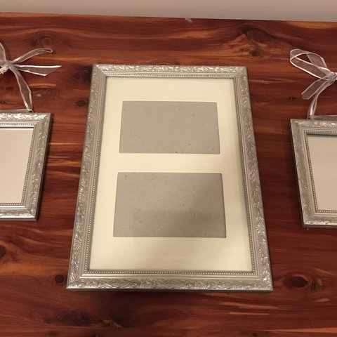 3 Piece Burnes Of Boston Frame And Mirror Set Frame Holds 4 Depop