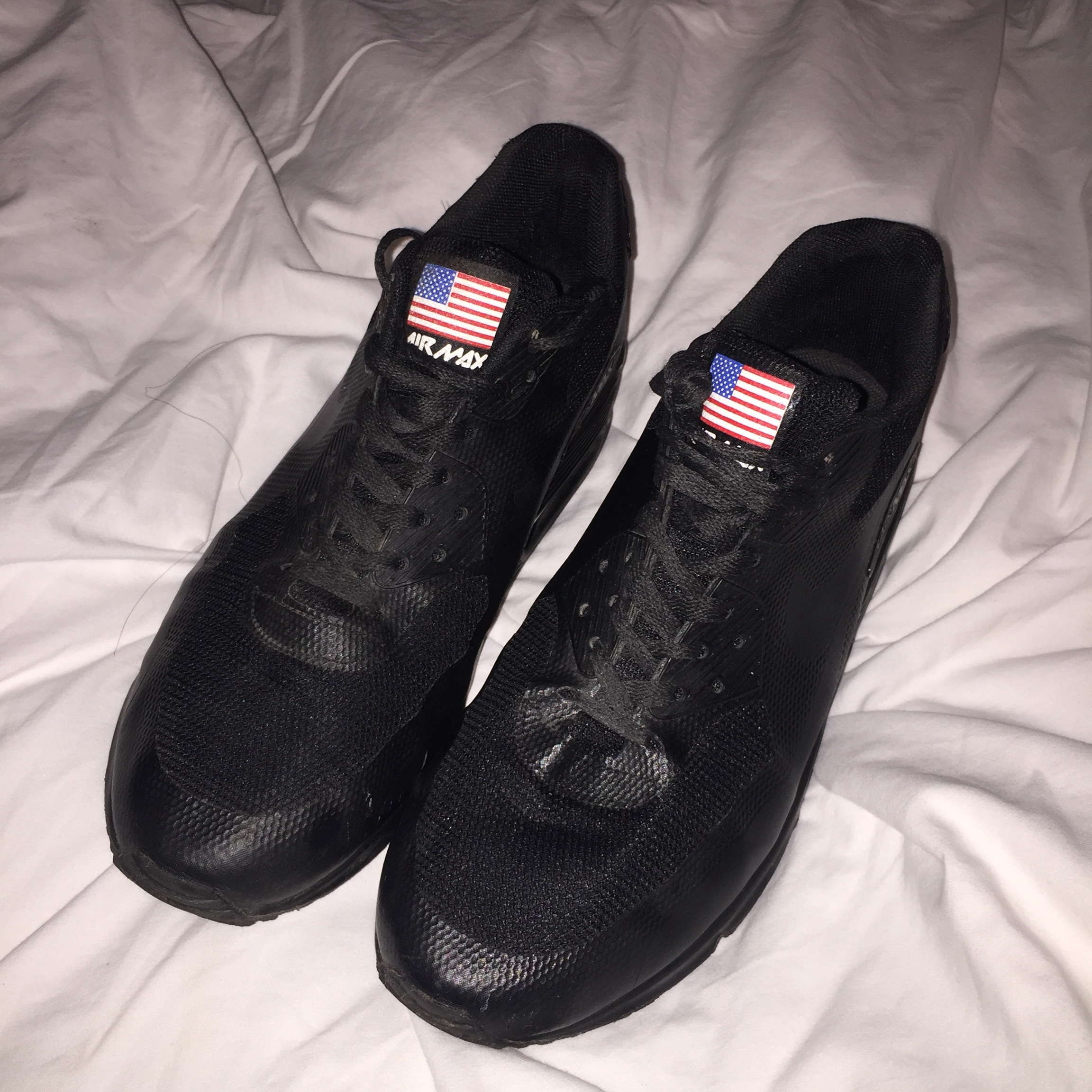 Nike airmax 90 hyperfuse black Independence Day, Depop
