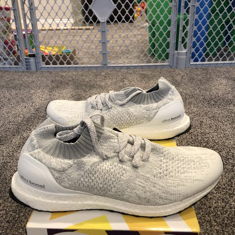 9ff8e6894d4 Adidas Ultra Boost Uncaged DA9157 White White Tint All DS - - Depop