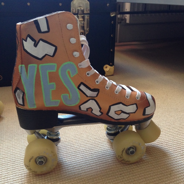 One off hand painted roller skates! Painted by the    - Depop