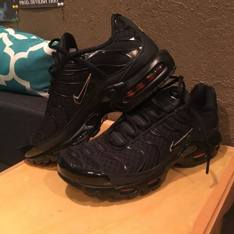 95d51c2cb8035 New Black nike airmax plus size 11 mens Comes with box - Depop