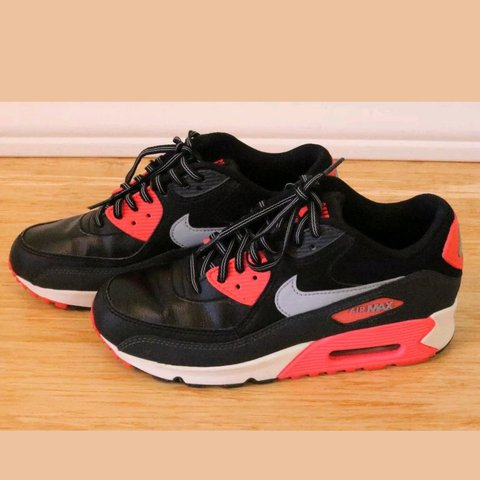 low priced 79ac8 7369f  shoplasophia. 3 months ago. San Bernardino, San Bernardino County, United  States. Nike Air Max 90 essential Black wolf grey atomic red ...