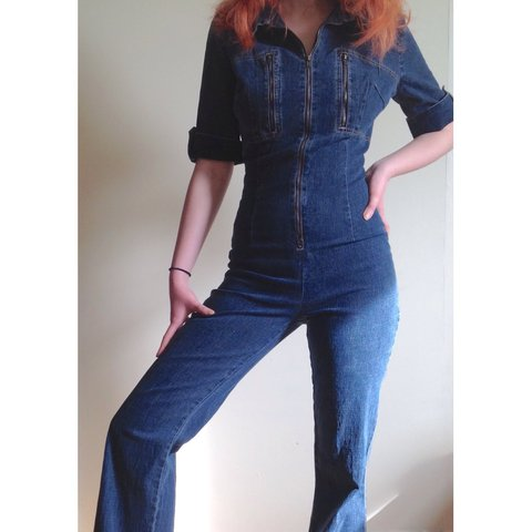 bb7617935c Amazing Baby Phat Jean jumpsuit! ✨ ✨ ✨ ✨ OMG these denim are - Depop