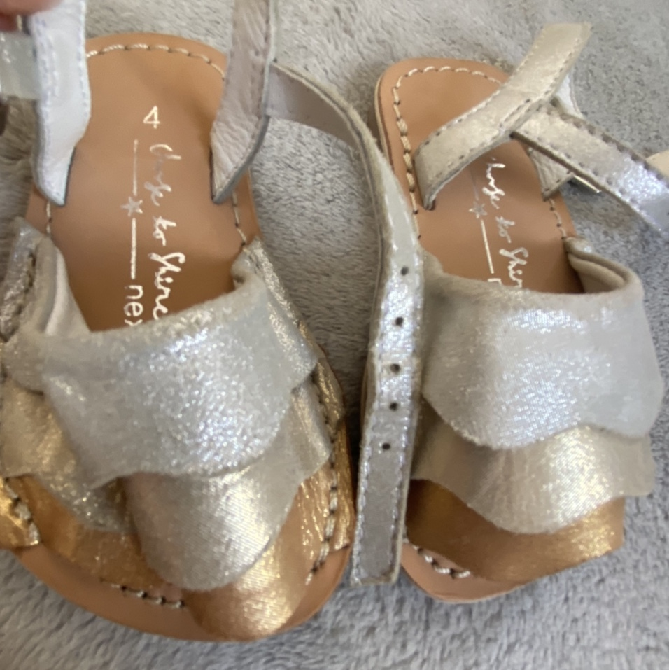 Size 4 toddler girl sandals from next