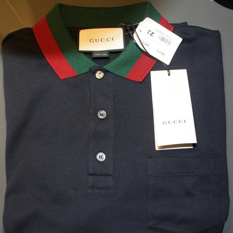 2044e7192607 100% Authentic Gucci polo shirt Brand new with tags Size L - Depop