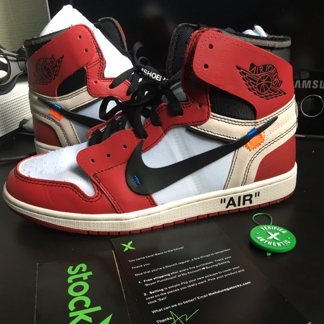 best sneakers 5be68 15bea Authentic Jordan 1 x Off White Bought from StockX... - Depop
