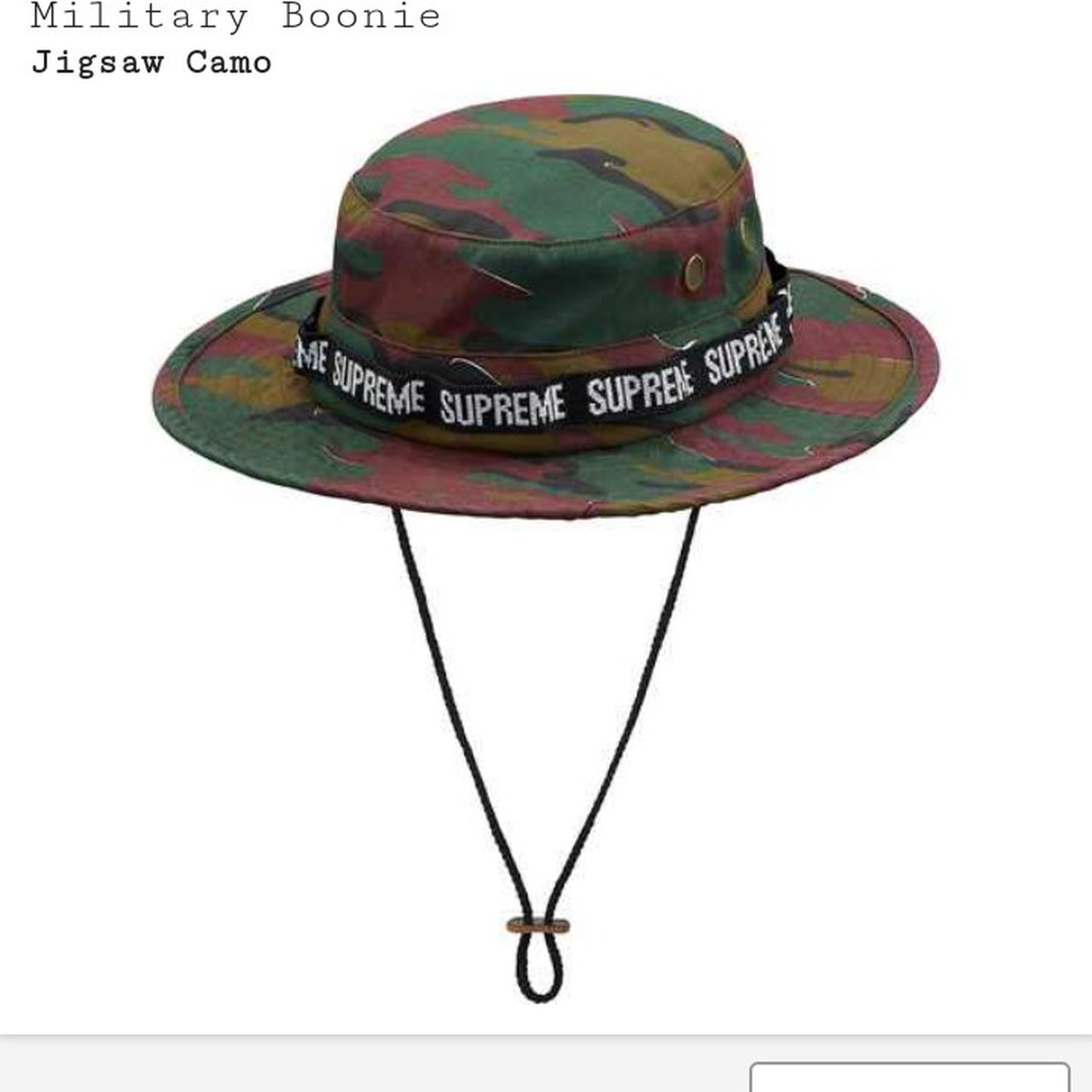 Supreme military boonie hat. Bucket hat. Perfect for summer. - Depop 321f6f9b996