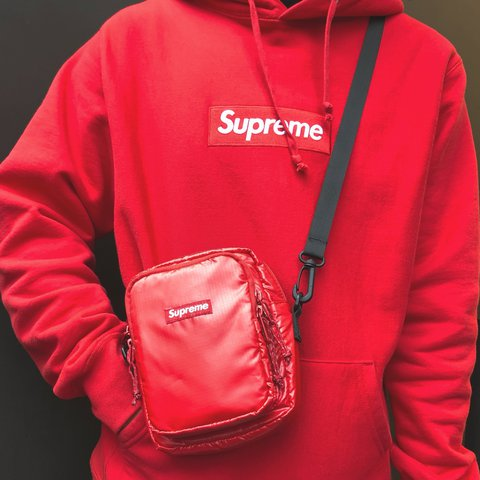 Fw16 Supreme Bogo Hooded Red 0