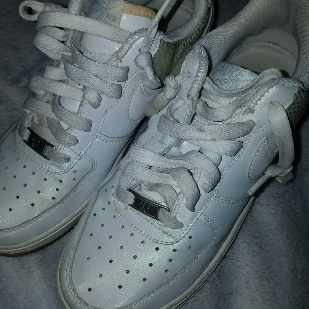 Sparkly Nike Air Force ones size 5.5Y