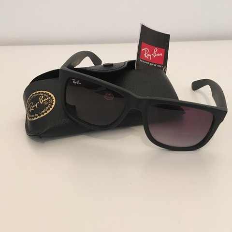 80520c86ae Men s Raybans Matt black  retro  vintage - Depop