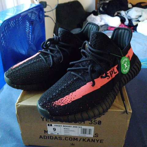 c83a2b71cf9 🍃 Adidas Yeezy Boost 350 V2 Core (Black Red) Infrared These - Depop