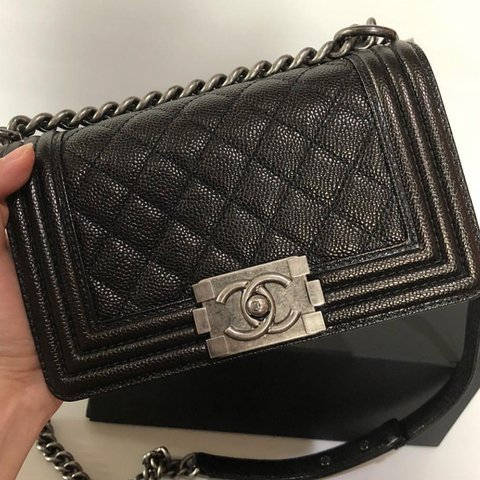 f32ddfc16cdd CHANEL Le Boy! Authentic with authenticity card and proof of - Depop
