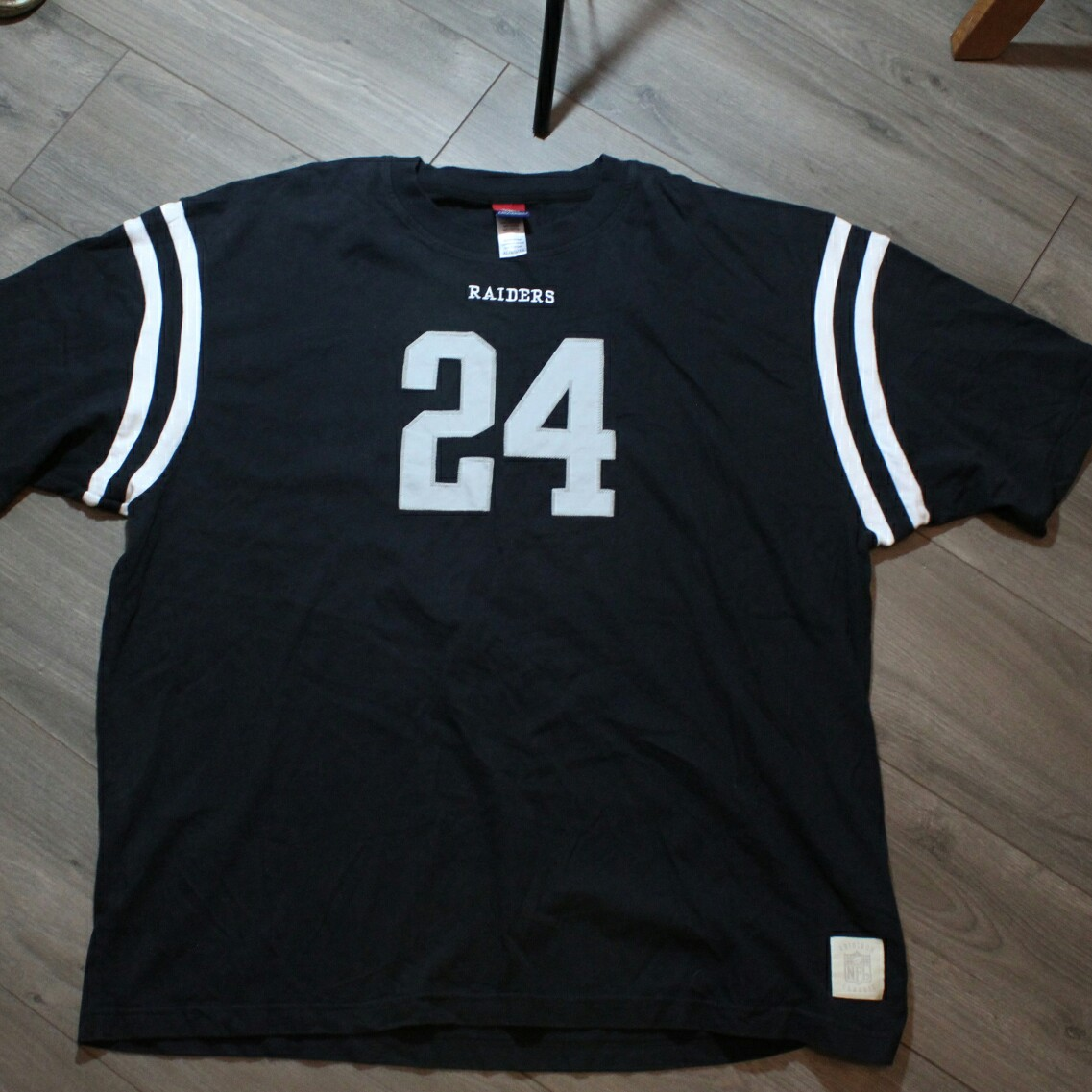 los angeles 4e033 06dc5 Charles Woodson Raiders NFL Classic heavy weight tee ...