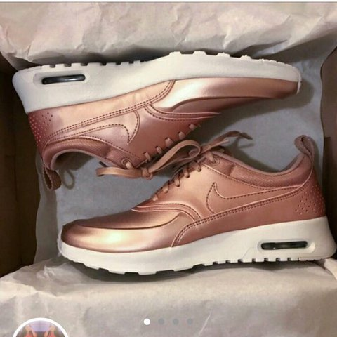 sports shoes 18b1d 7e69b  albertasimons. last year. Bournemouth, United Kingdom. NIKE AIR MAX THEA  ROSE GOLD ...