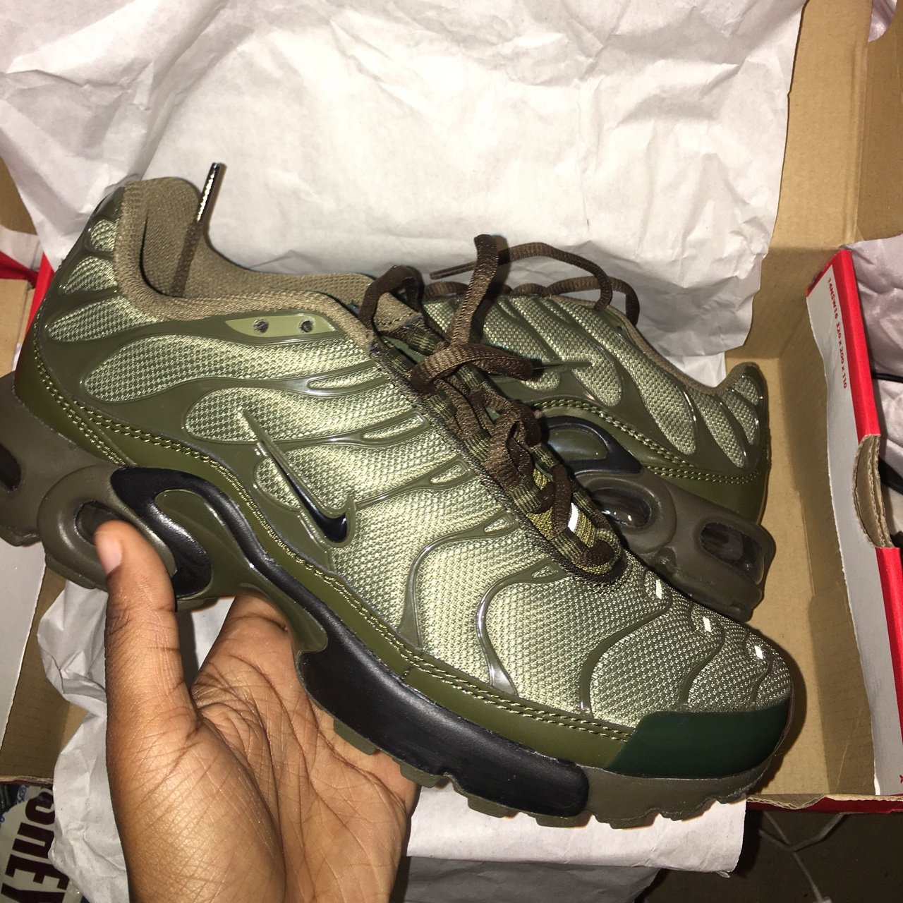factory price 5bf7a c84f1 BRAND NEW NIKE LIMITED EDITION TNs SIZE 6 - KHAKI GREEN.  TN - Depop
