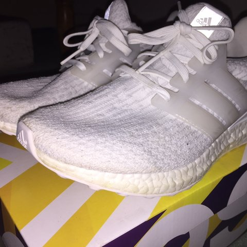 c3c00b63d Adidas ultra boost 3.0 triple white Extremely comfortable on - Depop